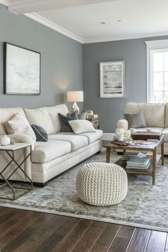 Small Living Room: Warm Grey Decor