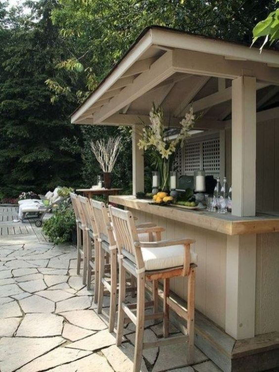 Backyard Bar Ideas: Cozy Small Bar