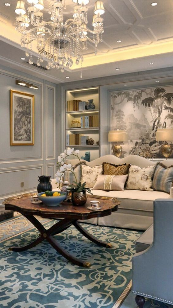 French Country Living Room: Catchy Festive Decor