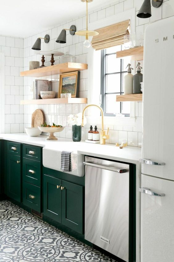 green kitchen ideas 13