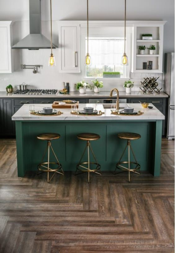 green kitchen ideas 14
