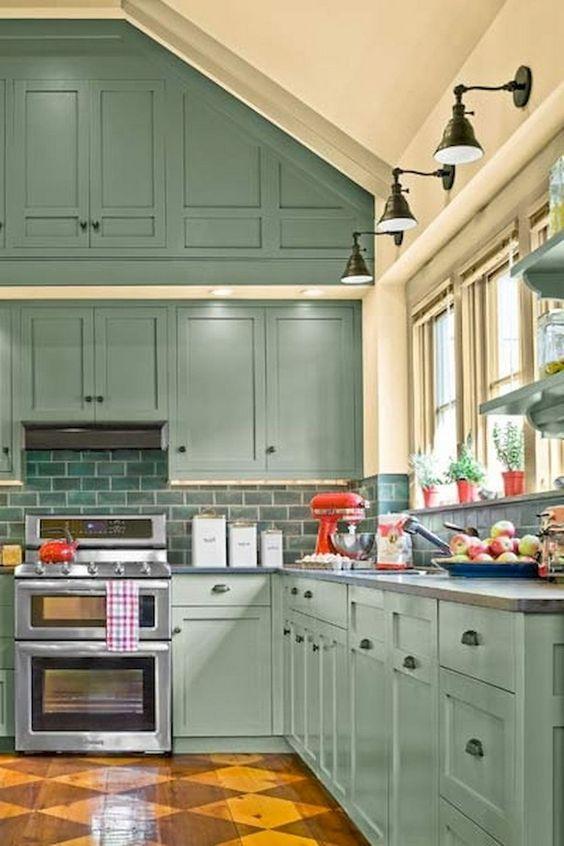 green kitchen ideas 19
