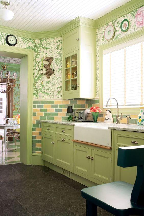 green kitchen ideas 2