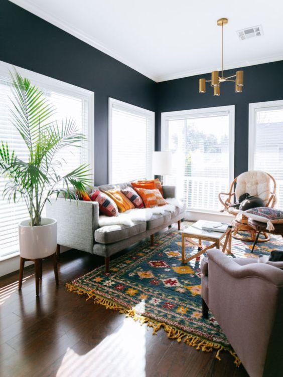 Living Room Colors Ideas: Decorative Monochrome Decor