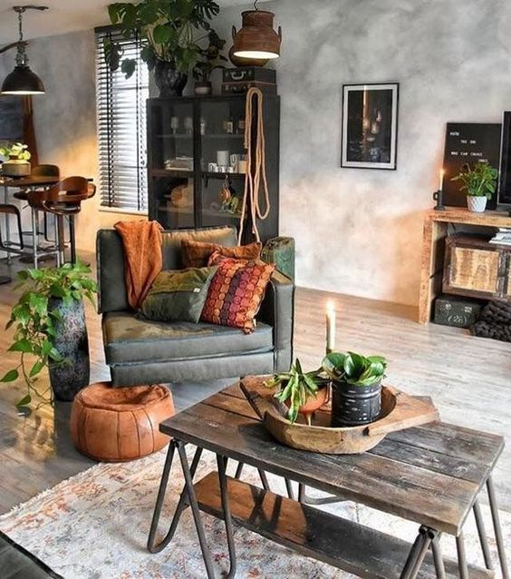 rustic living room 3