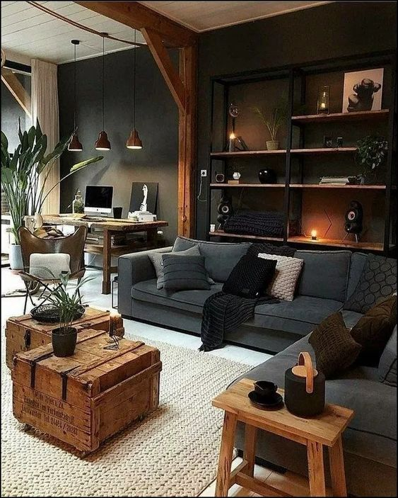 rustic living room 5