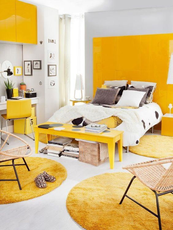 yellow bedroom ideas 21