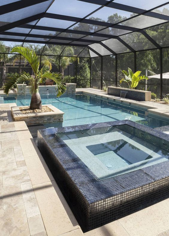Swimming Pool with Hot Tub: Cozy Covered Backyard