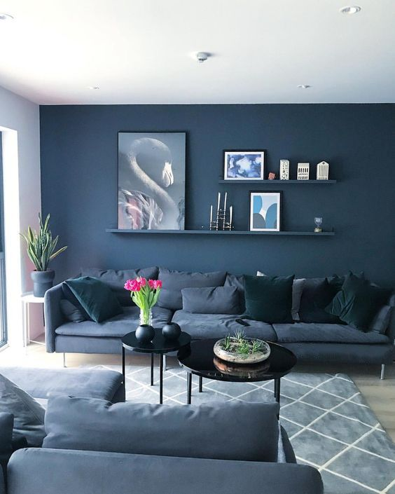 Blue Living Room Ideas: Elegant Navy Decor