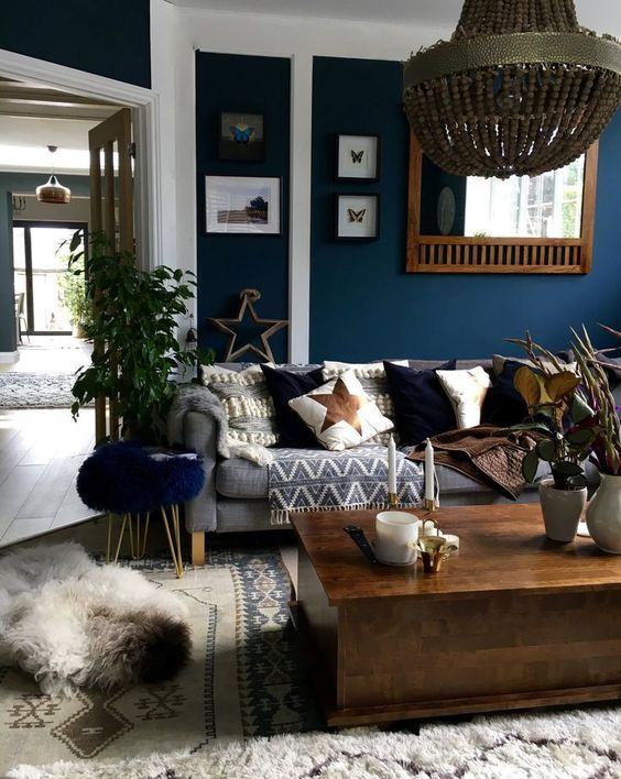 blue living room ideas 22