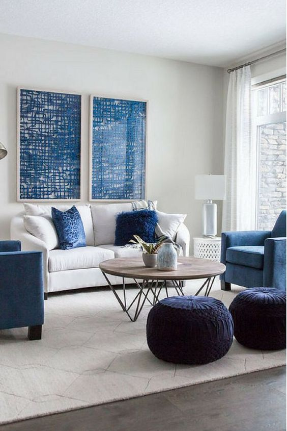Blue Living Room Ideas: Brightly Beautiful Decor