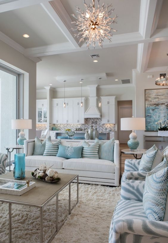 Blue Living Room Ideas: Gorgeous Soft Decor