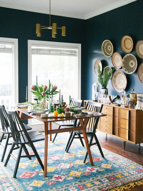 eclectic dining room 19