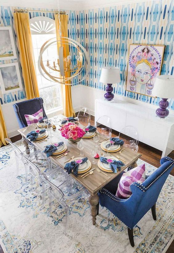 Eclectic Dining Room: Unique Colorful Decor