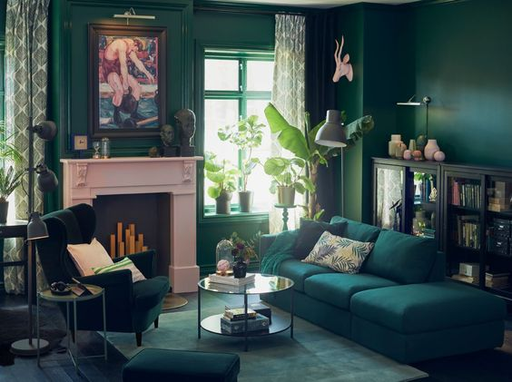 green living room 24