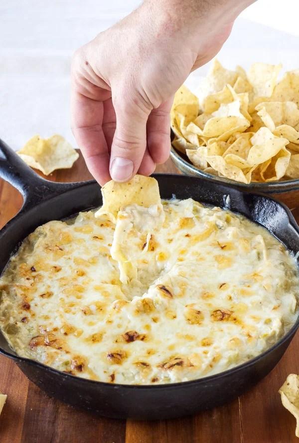 Skinny Green Enchilada Dip from Recipe Runner [Cinco de Mayo Ideas from High-Heeled Love]