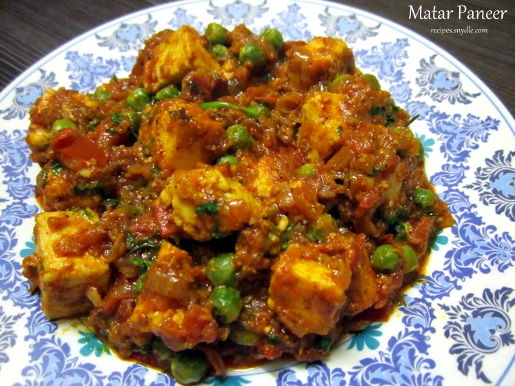 Matar Paneer Recipe   Mutter Paneer Recipe with Step by Step Pictures