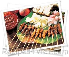 thit nuong xien sate