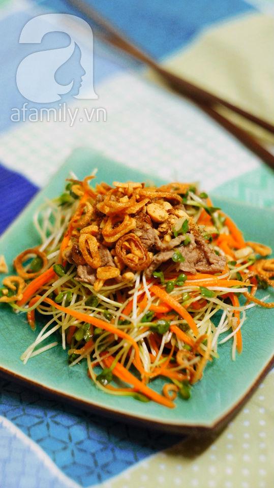 Mát giòn ngon miệng với món salad rau mầm 17