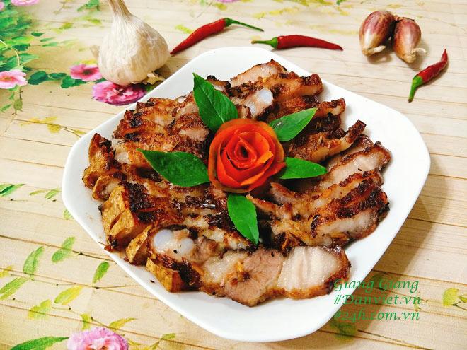 Thịt ba chỉ nướng sả ớt mềm ngon, thơm lừng đãi bạn hiền dịp cuối tuần - 8