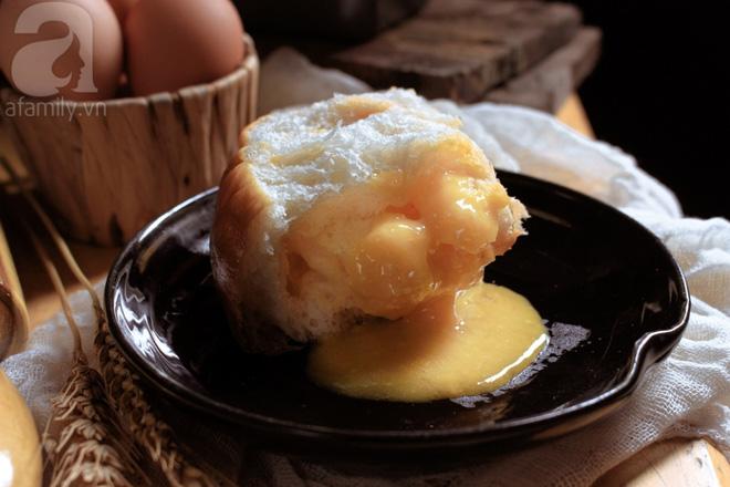 Làm bánh mì kim sa nhân trứng muối mặn ngọt tan chảy ngon mê tơi - Ảnh 12.