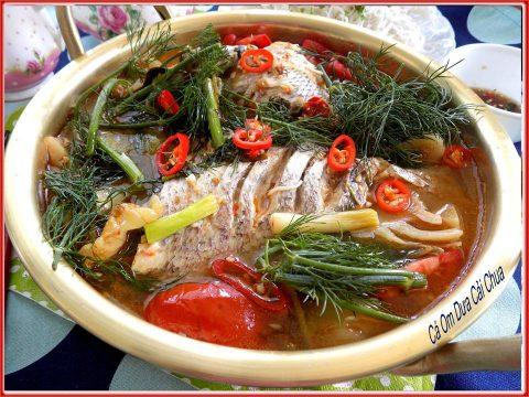 cá om dưa cải chua 1