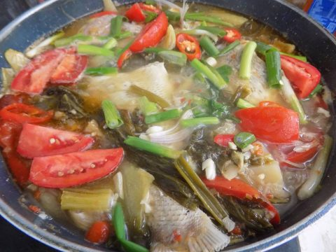 cá om dưa cải chua 5