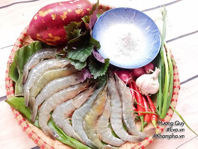 Tôm cuộn khoai lang chiên ngòn thơm nóng bỏng lưỡi - 1