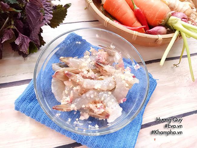 Tôm cuộn khoai lang chiên ngòn thơm nóng bỏng lưỡi - 2