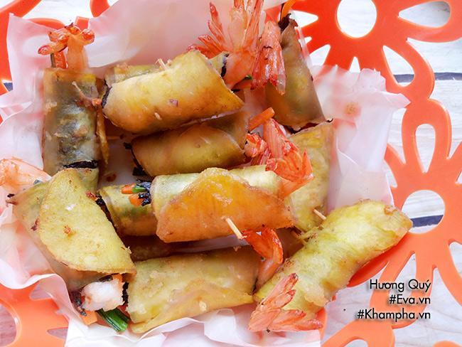 Tôm cuộn khoai lang chiên ngòn thơm nóng bỏng lưỡi - 7