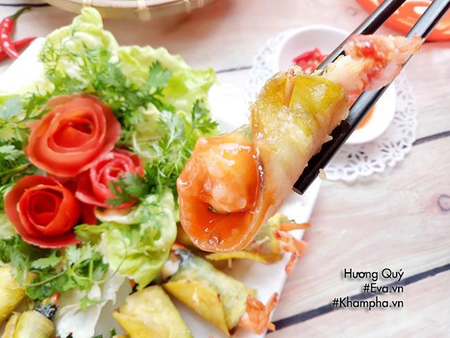 Tôm cuộn khoai lang chiên ngòn thơm nóng bỏng lưỡi - 9