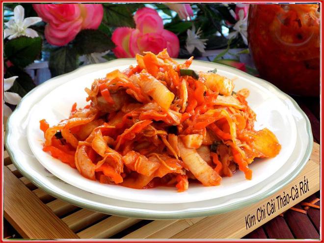 Cách làm kim chi cải thảo cà rốt thuần Việt giòn ngon - Ảnh 1.