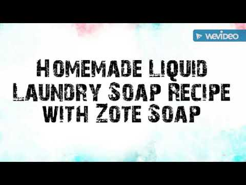 Homemade Liquid Laundry Soap Recipe with Zote Soap!