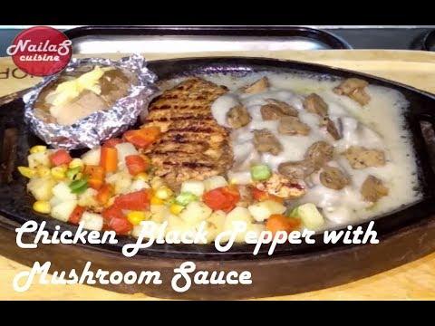 Chicken Black Pepper Steak With Mushroom Sauce | Steaks