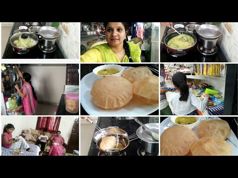 Morning to evening vlog/Tasty breakfast/aalu poori recipe/family time/Indianmom busy lifestyle