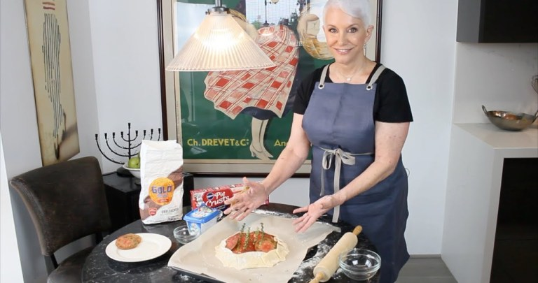 Quick and Easy Dinner Recipe for Tomato Feta Galette | Fran Berger