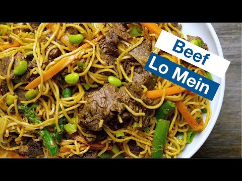 Beef Lo Mein With Green Veggies || Le Gourmet TV Recipes
