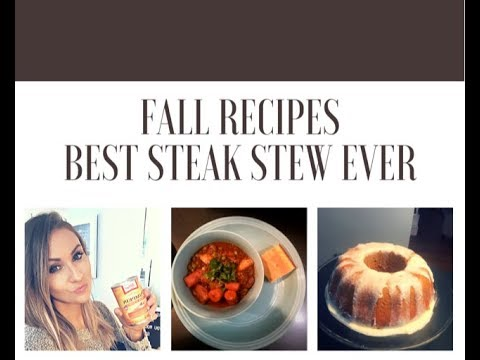 MY FAVORITE RIBEYE STEAK STEW & PUMPKIN CAKE| FALL RECIPES | EmsEssentials