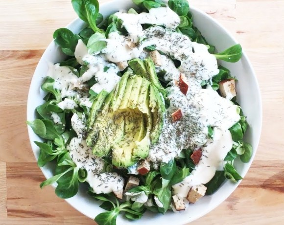 green salad recipe - vegan healthy foods