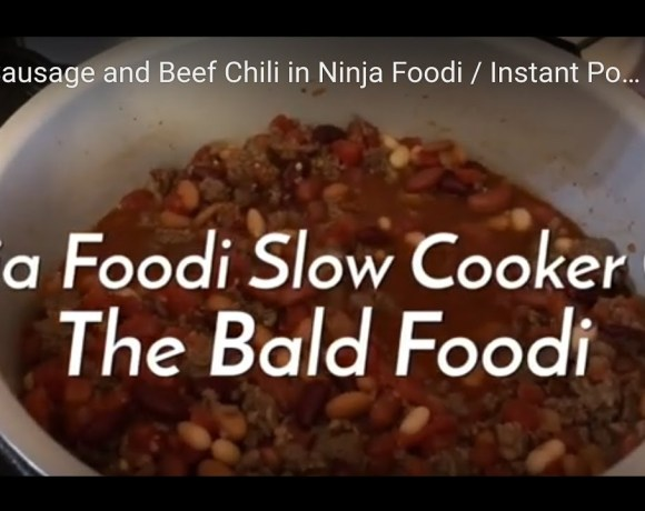 4-Bean Sausage and Beef Chili in Ninja Foodi / Instant Pot / Slow Cooker