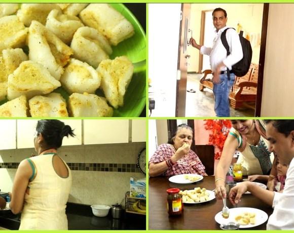 Fara Recipe   My 8th Vlog - Cooking Fara for Family   Indian Husband Vlog