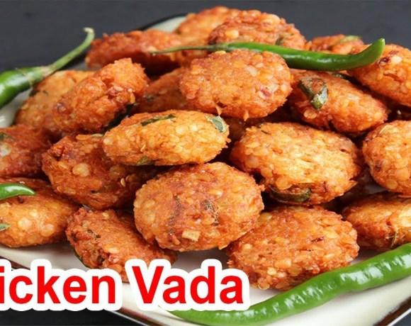 Chicken Vada | Chicken Vada Recipe | Non-veg Snack Recipes Cooking in Village  | Live Street Food