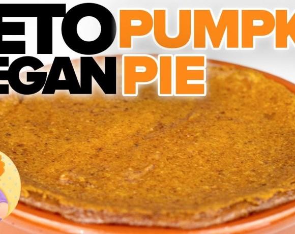 VEGAN KETO Pumpkin Pie Recipe 🎃 Super Easy in Blender for #GBBO #VeganWeek