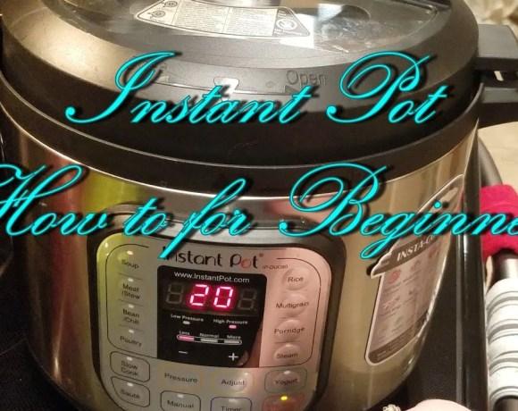 Instant Pot- Instructions