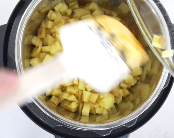 Potato Corn Chowder [Instant Pot + Vegan]