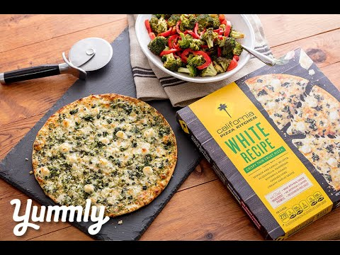 Easy Dinner: CPK Crispy White Sauce Pizza and Balsamic Roasted Veggies
