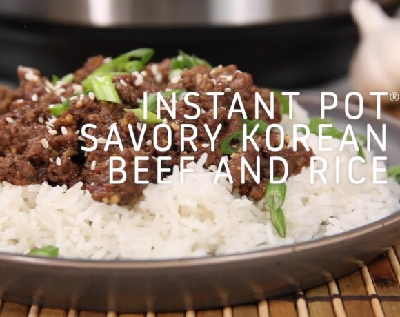 Instant Pot Savory Korean Beef and Rice