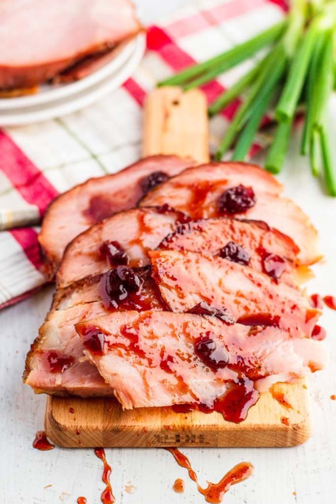 Cherry-Glazed Christmas Ham recipe