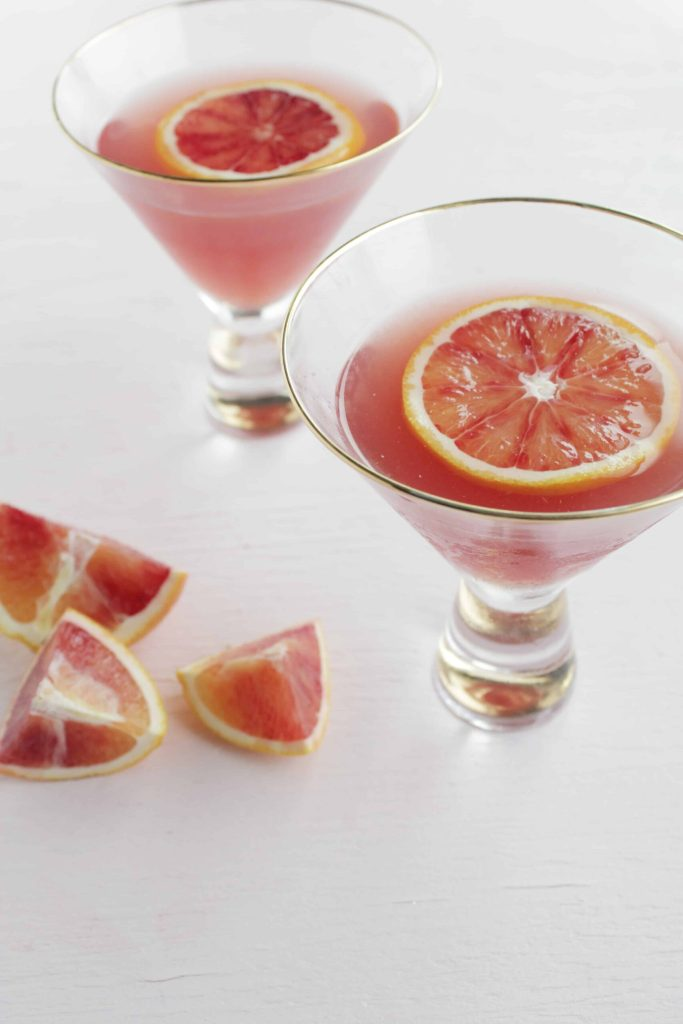 Pomegranate and Blood Orange Gin Martini recipe