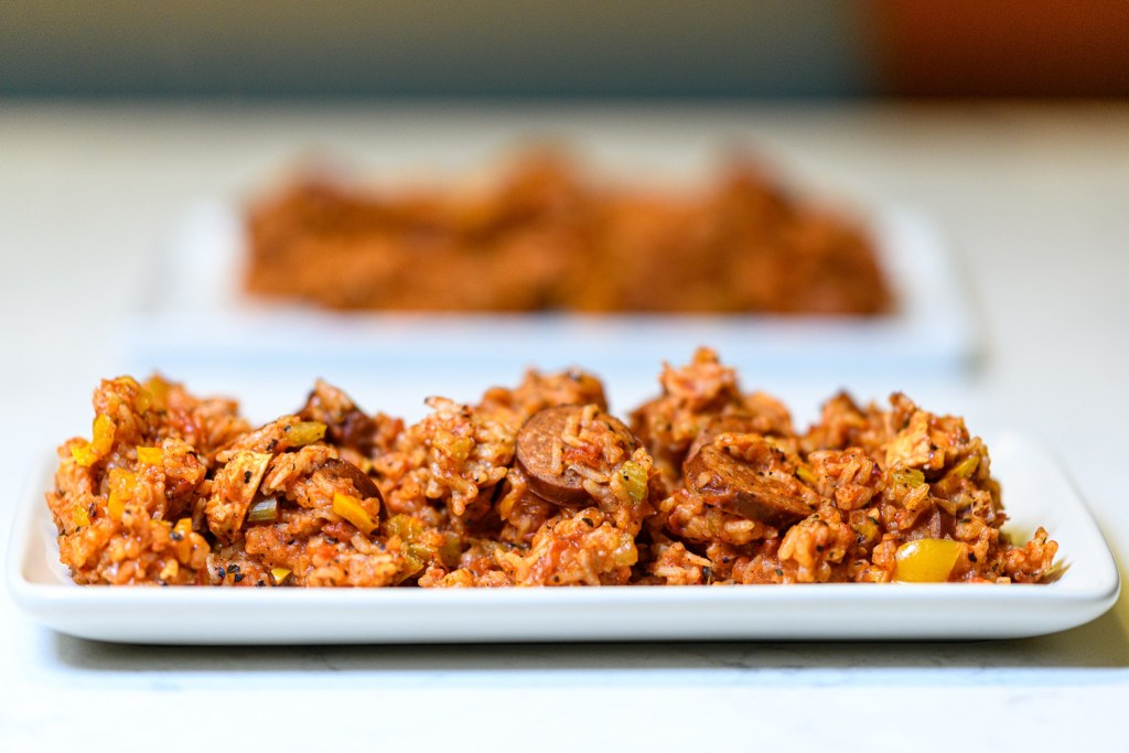 Cajun Sausage and Chicken Jambalaya recipe